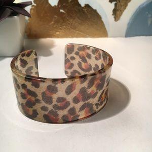 Cheetah print cuff